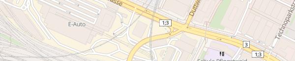Karte ewz Werkhof Herdern Zürich