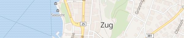 Karte Parkhaus Postplatz Zug