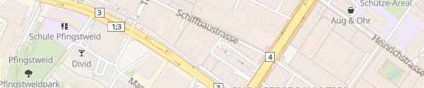 Karte Schiffbaustrasse Zürich