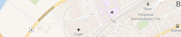 Karte Zuger Kantonsspital Baar