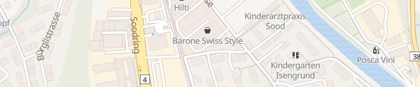 Karte Soodstrasse Adliswil