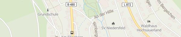 Karte Dorfhalle Niedersfeld Winterberg