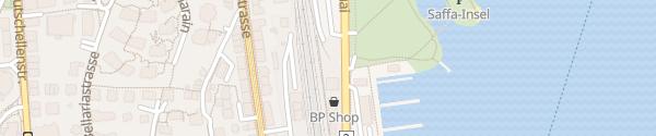 Karte BP Tankstelle Zürich