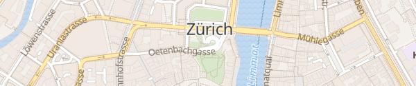 Karte Parkhaus Urania Zürich