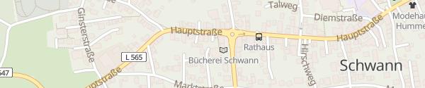 Karte Rathaus Schwann Straubenhardt