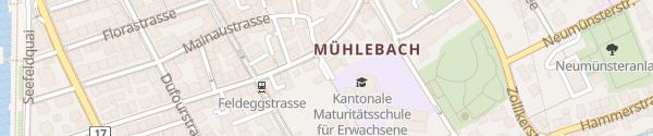 Karte Parkhaus Feldegg Zürich