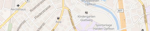 Karte Parkplatz Oberhauserstrasse Opfikon