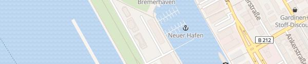 Karte Im-Jaich Hotel Boardinghouse Bremerhaven