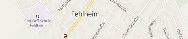 Karte Schulstraße Fehlheim Bensheim
