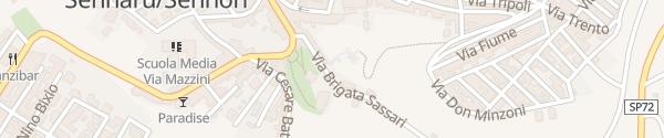 Karte Via Brigata Sassari Sennori