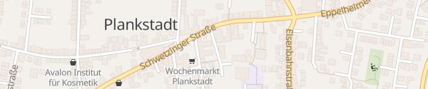 Karte Parkplatz Schwetzinger Straße Plankstadt