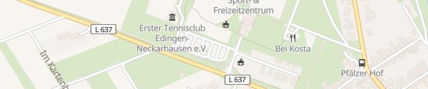 Karte Sport- und Freizeitzentrum Edingen-Neckarhausen