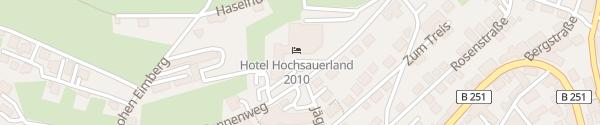 Karte Hotel Hochsauerland 2010 Willingen