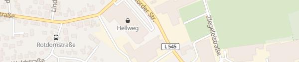 Karte Hellweg Bünde