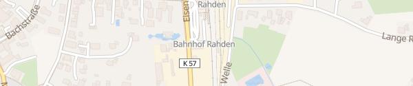 Karte Parkplatz am Bahnhof Rahden