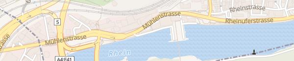 Karte Kraftwerk Schaffhausen