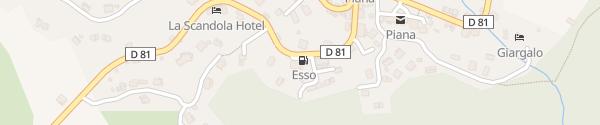 Karte Station Esso Piana