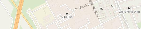 Karte ALDI Süd Im Schumachergewann Heidelberg