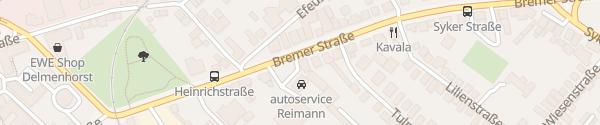 Karte Autoservice Reimann GmbH Delmenhorst