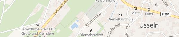 Karte Freizeit-Freibad Usseln Willingen (Upland)