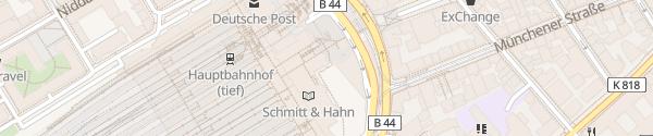 Karte Hauptbahnhof P4 Frankfurt am Main