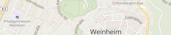 Karte Parkplatz Rote Turmstraße Weinheim