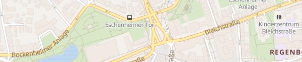 Karte Eschenheimer Tor Frankfurt am Main