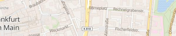 Karte Kurt-Schumacher-Straße Frankfurt am Main