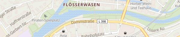 Karte Parkplatz Dammstraße Horb am Neckar