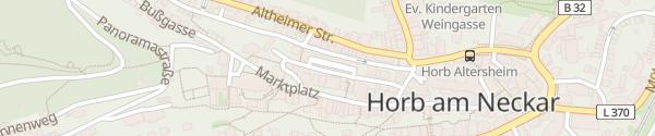 Karte Parkhaus Wintergasse Horb am Neckar