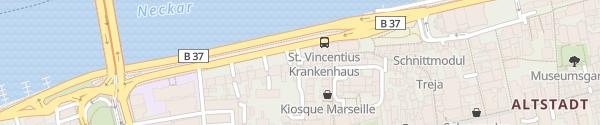 Karte Parkhaus Kraus P6 Heidelberg