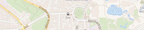 Karte Zoo / Fritz Remond Theater Frankfurt am Main