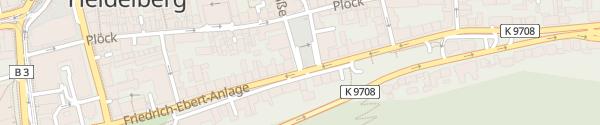 Karte P10 Friedrich-Ebert-Platz Heidelberg