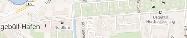 Karte Hotel Neuwarft Dagebüll