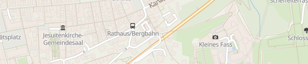 Karte Parkhaus P12 Kornmarkt/Schloss Heidelberg