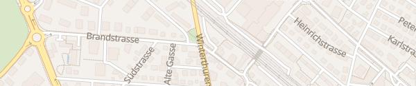 Karte Parkplatz Bankstrasse Uster