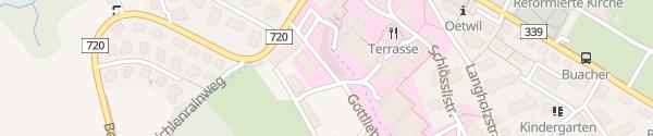 Karte Parkplatz Schlössli Oetwil am See