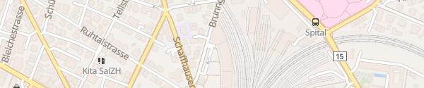 Karte Parkhaus Banana City Winterthur