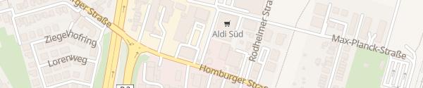 Karte ALDI Süd Bad Vilbel