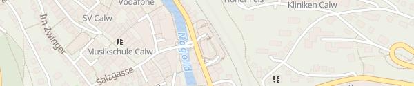 Karte Parkhaus ZOB Calw