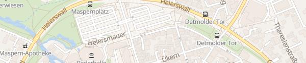 Karte Parkplatz Paderhalle Paderborn