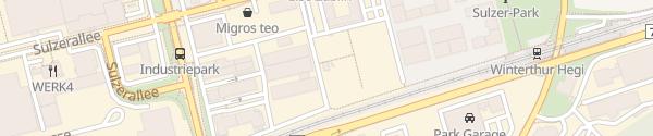 Karte DMG MORI Car Park /NEO Winterthur