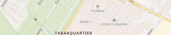 Karte MOBI 1 Parkhaus Tabakquartier Bremen