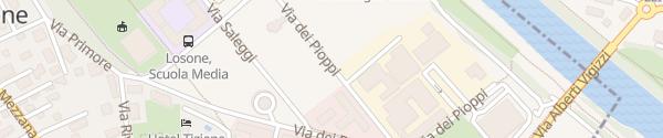 Karte Via dei Pioppi Losone