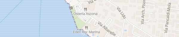 Karte Posteggio Lungolago Ascona