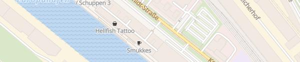 Karte SCHUPPEN EINS Bremen
