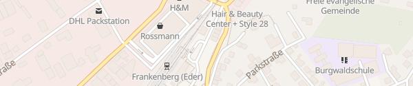 Karte Bahnhof Frankenberg (Eder)