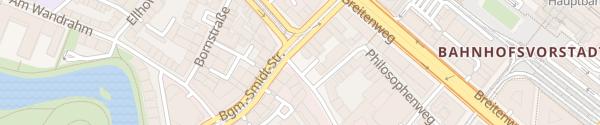 Karte SWB Ladesäule Birkenstraße Bremen