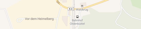 Karte Bahnhof Hambergen