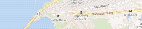 Karte Tiefgarage HSR Hochschule für Technik Rapperswil